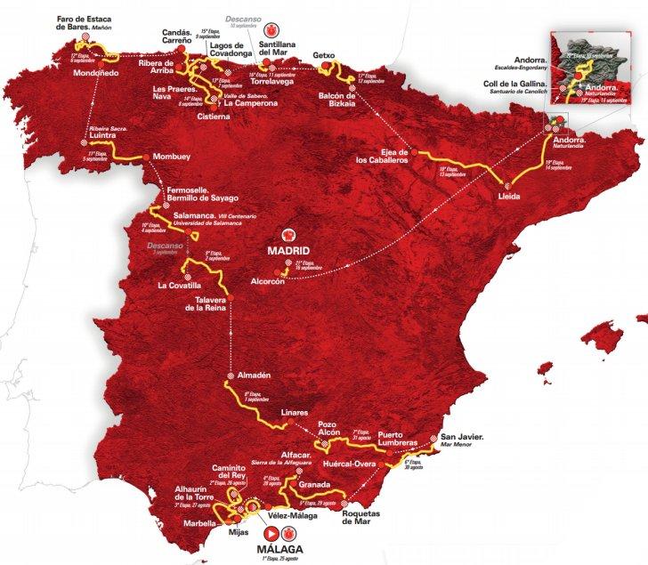 Tour De France Route  Map